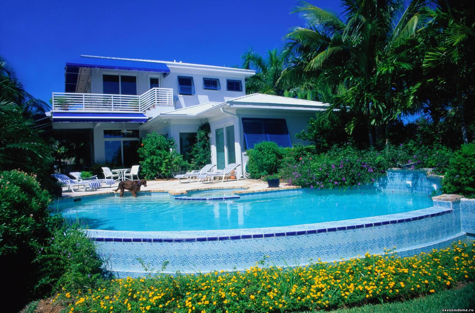 Фото богатых домов снаружи и внутри